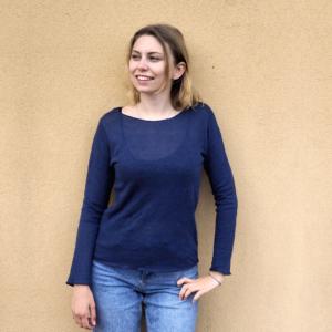 MAGLIA CANAPA Anna blu