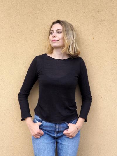 MAGLIA CANAPA Anna nero